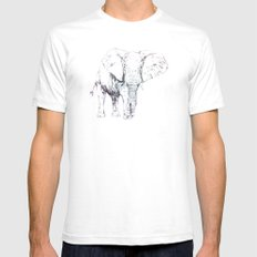 Elepattern Mens Fitted Tee White SMALL