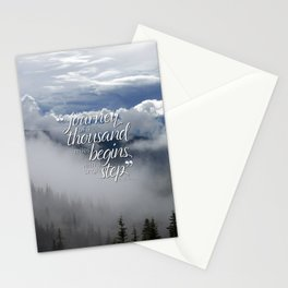 A journey of a thousand miles begins with a single step Stationery Cards