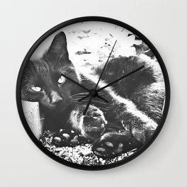 Shadow the Nursery Cat Wall Clock