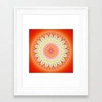 health Framed Art Prints featuring Mandala Health by Christine baessler