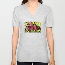 art fear painting Unisex V-Neck