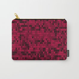 Red knitted textiles Carry-All Pouch