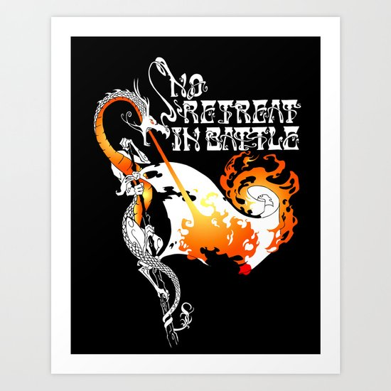 No Retreat in Battle Art Print