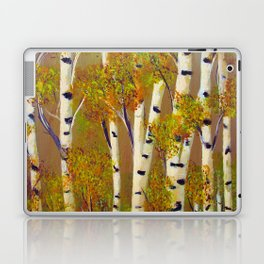 Birch trees-3 Laptop & iPad Skin
