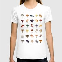 mushrooms T-shirts featuring MUSHROOMS by saimi t