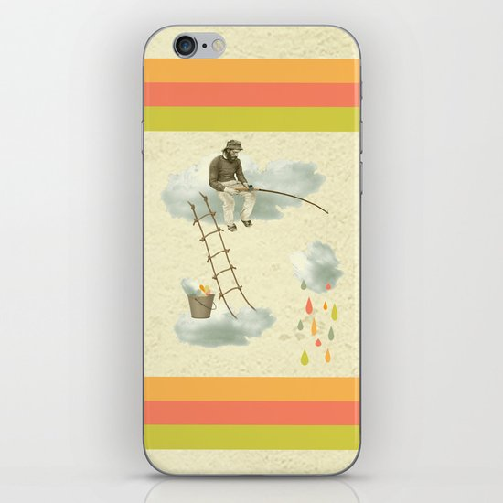 The fisherman who was cleaning the sky from the clouds iPhone & iPod Skin