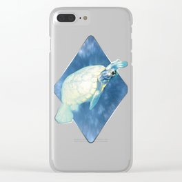 Psychedelic Space Turtle Clear iPhone Case