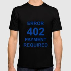 ERROR 402 PAYMENT REQUIRED Mens Fitted Tee Black MEDIUM