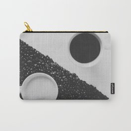 Black and White Coffee Carry-All Pouch