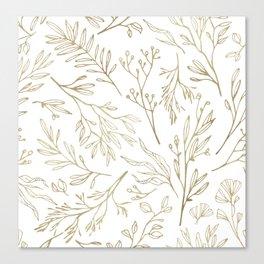 Golden Nature Canvas Print
