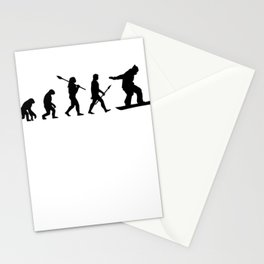 Snowboarder wintersport Stationery Cards