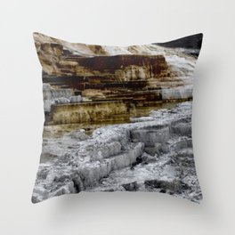 This is a panoramic picture of Minerva Terraces in Yellowstone. Throw Pillow
