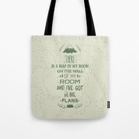maps Tote Bags featuring Maps by Posters 4 Progress