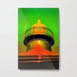 Lighthouse romance 100 Metal Print
