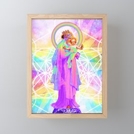 Our Lady of Sacred Geometry Framed Mini Art Print