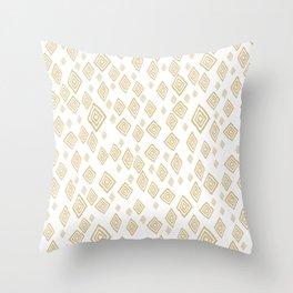 Baesic Golden Tribal Diamonds Throw Pillow