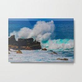 The Wave Metal Print