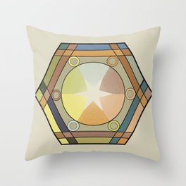Babbitt's Chromatic Harmony of Gradation and Contrast, 1878, Remake, Vintage Wash Throw Pillow