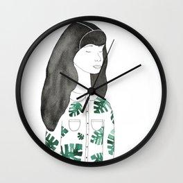 Leaf Girl Wall Clock