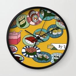 Kuru Kuru Sushi Train Wall Clock