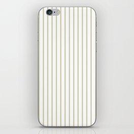 Spanish Moss Green Pinstripe on White iPhone Skin