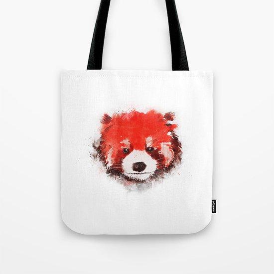 Red Panda (White) Tote Bag