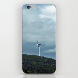 Windmill in the clouds iPhone Skin