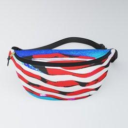 Pop-striped star flag Fanny Pack