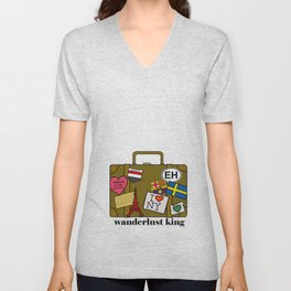 Wanderlust King Unisex V-Neck