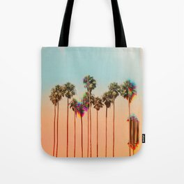 Glitch beach Tote Bag