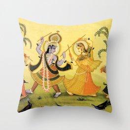 Krishna - Hindu Throw Pillow