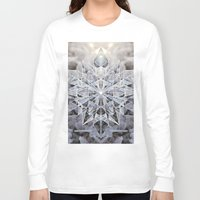 snowflake Long Sleeve T-shirts featuring Snowflake by Kristin Edoy Design