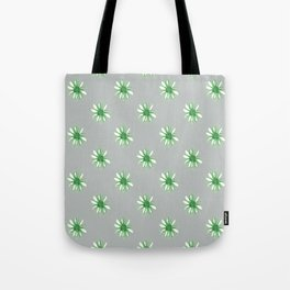 Daisies in Green Tote Bag