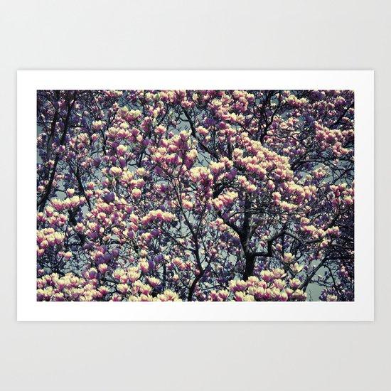 psyche delic magnoliA Art Print