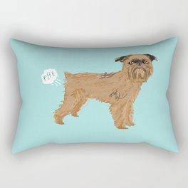 Brussels Griffon dog breed funny dog fart Rectangular Pillow