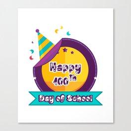 Happy 100 Days Of School Canvas Print