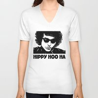 bob dylan V-neck T-shirts featuring Bob Dylan by Hippy Hoo Ha