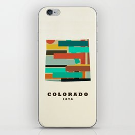 colorado state map modern iPhone Skin
