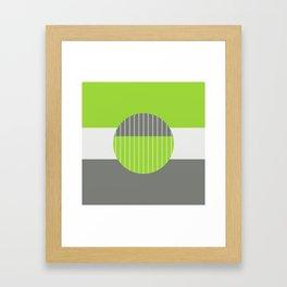 Lime Pastel Geometry Framed Art Print