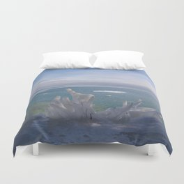 Cave Point Icicle Tree Duvet Cover