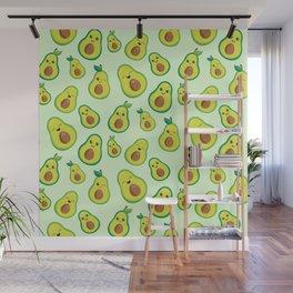 Cute Avocado Pattern Wall Mural
