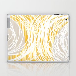 Yellow Doodle Floral by Friztin Laptop & iPad Skin