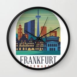 Frankfurt Germany Wall Clock