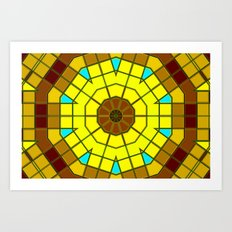 Glass Kaleidoscope Art Print