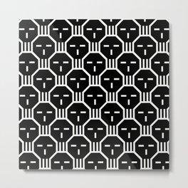 CCR Skull Pattern reverse Metal Print