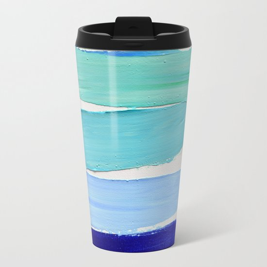 Ocean Blues Metal Travel Mug