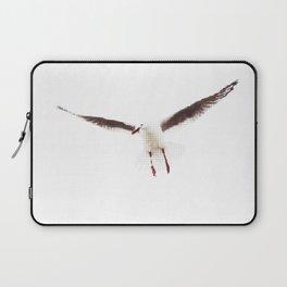 White Seagull Halftone Design Laptop Sleeve