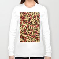 lipstick Long Sleeve T-shirts featuring Lipstick by GrandeDuc