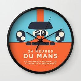 Le Mans Minimal Retro B Wall Clock