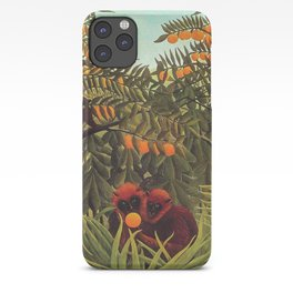 Apes in the Orange Grove by Henri Rousseau 1910 // Colorful Jungle Animal Landscape Scene iPhone Case